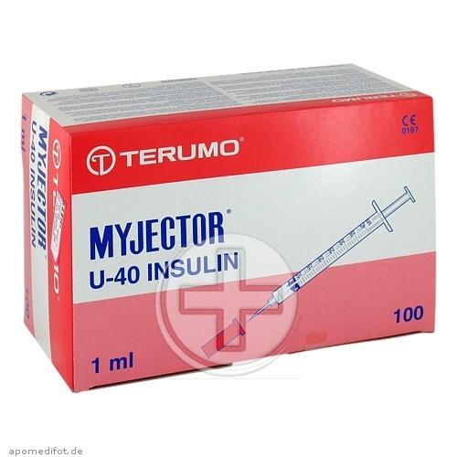 Terumo Deutschland GmbH MYJECTOR Spritze 1 ml U40 m.Kanüle 29 G 01168799