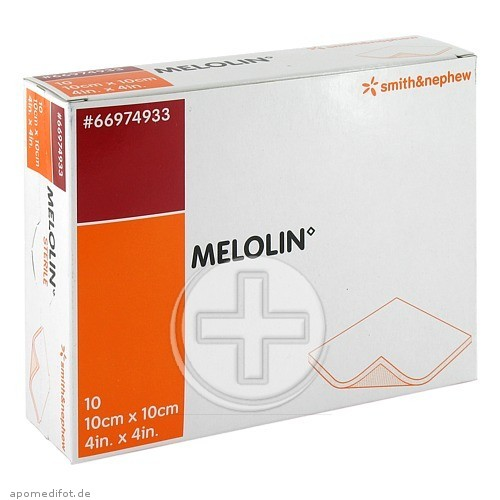 MELOLIN 10x10 cm Wundauflagen steril 03170748