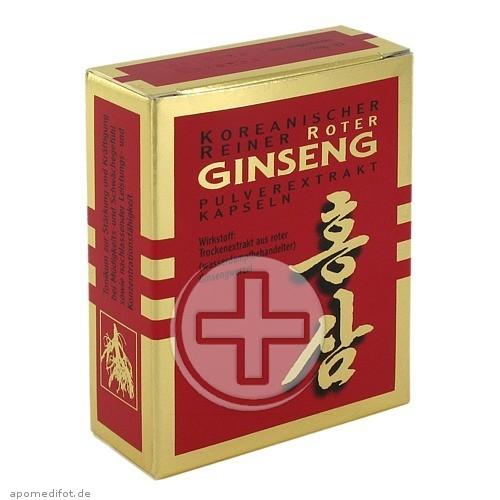 KGV Korea Ginseng Vertriebs GmbH ROTER GINSENG Extrakt Kapseln 03444944