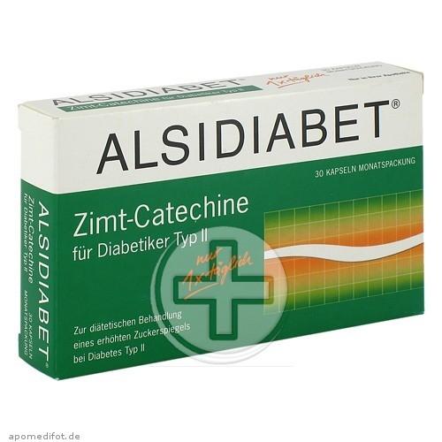 Alsitan GmbH ALSIDIABET Zimt Catechine f.Diab.Typ II Kapseln 03896675
